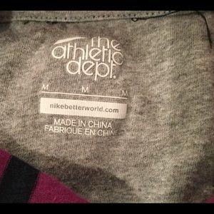 Nike Tops - Striped Cotton Nike Hoodie Tee
